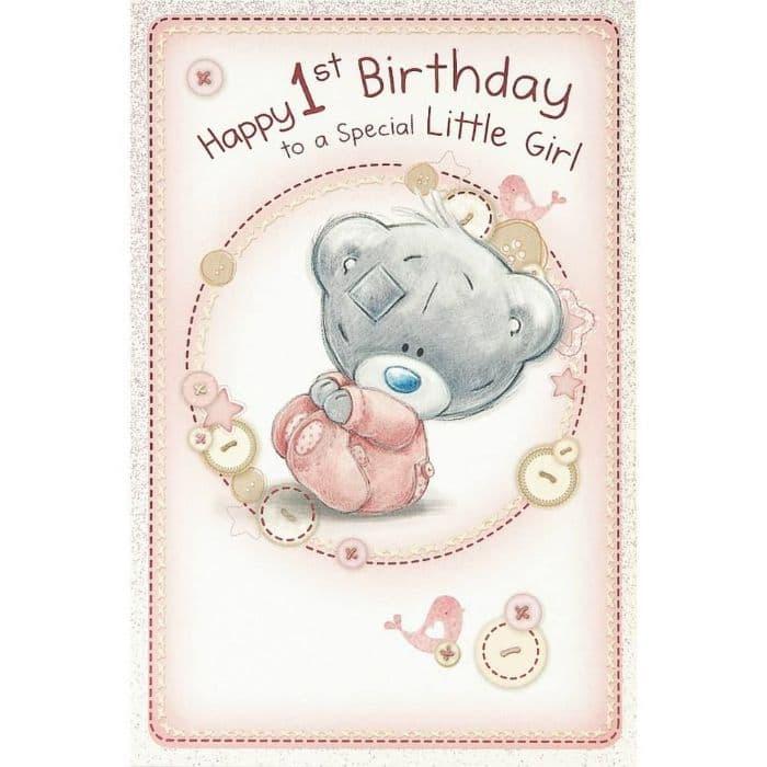 Glückwünsche zum ersten Geburtstag für Mädchen