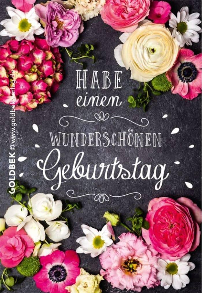 Gute Geburtstags Bilder mit Blumen