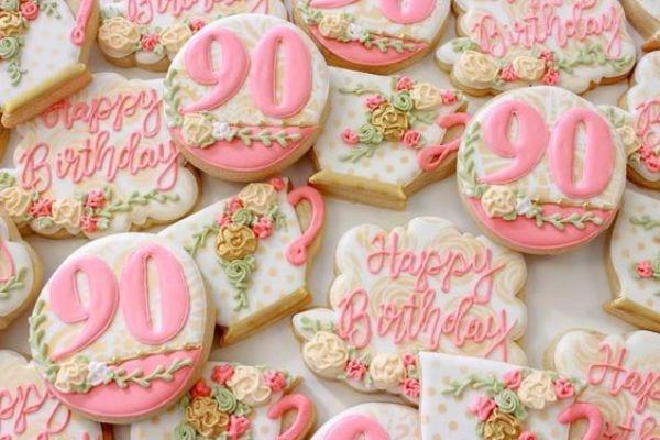 Herzliche Glückwünsche zum 90. Geburtstag für Oma und Opa